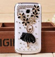 Bling Ballet Girl Crystal Diamond case 3D Hard Case Cover Skin For SAMSUNG GALAXY S3 MINI i8190 Free Shipping