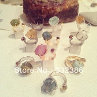 Thailand design Candy ring handmade fine jewelery 100% natural precious stone fashion ring birthstone for everyone