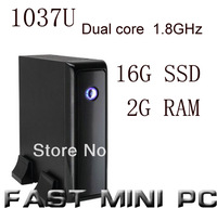 mini pcs ITX Computer with Intel 1037u Dual Core 1.8GHz 2G RAM 16G SSD mini computer  HDMI
