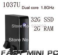 mini pcs ITX Computer with Intel 1037u Dual Core 1.8GHz 2G RAM 32G SSD mini computer with HDMI