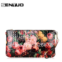 Sentuo 2013 women's handbag paint fancy women's handbag cowhide clutch bag coin purse all-match female messenger bag