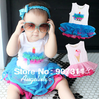 free shipping baby tutu dress baby girl's cake dress size 80-100 girl's ice cream dress summer dress
