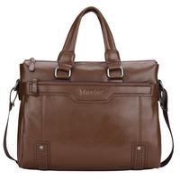 Fashion pu leather briefcase men business bag brand design bag for notebook computer portfolio handbag for men 2 colors