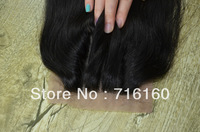 virgin silk straight brazilian hair 3 way part silk base closure bleached knots,4''*4'' queen remy lace front closure