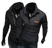 168 New Men Stylish Casual Slim Fit Long Sleeve Dress Shirt