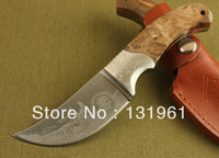 High Quality KIKU Camping Fixed Knife, 7Cr17 Blade G10 Handle 56-58HRC Outdoor Hunting Knife