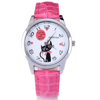 1235 new arrival product 2013 Cat footprints 12 Digital leather Watch wrist watches for children christmas gift