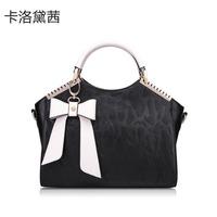 Women Message Handbag Coraldaisy Shoulder Bag  New 2013   Cowhide Handbag Bow-tie Bags