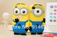 Free shipping 100pcs/lot  For ipod touch 4 case Despicable Me minion cases covers to ipod touch 4g  wholesale
