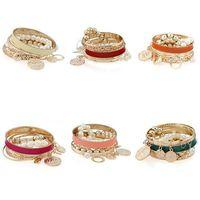 Lady Multilayers Faux Pearl Hollow Bangle Bracelet Alloy Party Beauty Hot Sale