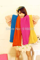 New 2013 fashion Unisex Winter twist splicing yarn Warmer candy color woman Ring Scarf Shawl 15 colors selection free shipping