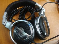 Free Shipping DJ1000 Headphones DJ Headset High Quality Silver Color With Retail Package