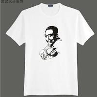 Commemorative t-shirt 100% cotton t-shirt figure graphic patterns short-sleeve t-shirt