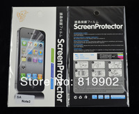 100set Clear Screen Protector Protective Film for Samsung Galaxy Note 3 III N9000 with retail package