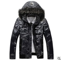 SALE 2013 Plus size XXXLwaterproof women's men's hood wadded jackets men winter jackets men winter coat outwear fashion fur coat