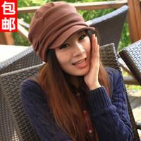 General pleated autumn and winter beret hat female winter cadet military cap hat cap