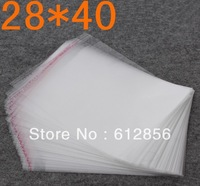 100pcs Wholesale big size 40x28cm opp bag,top plastic bags,clear Self Adhesive Seal poly bag cheap free shipping 0.5mm thickness