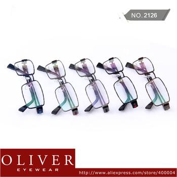 Wholesales!2013 New Fashion Superior Quality Brand Optical Frame For Men Stainless Steel Full Rim Eyewear Frame 2126 Free Ship!