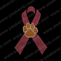 30Pcs/Lot  New Design Paw Iron On Ribbon Designs Wholesale Applique Custom Heat Transfers Free Shipping