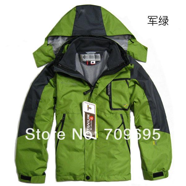 Children Outdoor Double Layer Windproof and Waterproof Sportwear Coat Climbing Jackets Skiing Jacket(China (Mainland))