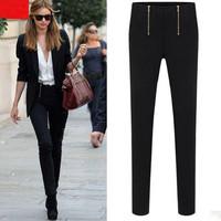 2013 New Fashion Autumn Winter Women British leisure pants black and white pencil pants Leggings haroun pants Free Shipping