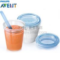 Avent via breast milk storage cup fresh cup 180ml cup milk cup belt lid