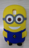 For Samsung Galaxy Note 3 III N9000 Hot Selling 3D Cute Cartoon Despicable Me Minions Silicone Case Cover 1pc Free Shipping