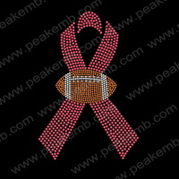 Wholesale 30Pcs/Lot  Free Shipping Football Rhinestone Trimming Strass Motif Design Iron On ribbon Crystal Patterns