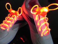 HOT!  New Arrivel 2nd Gen Colorful Flashing LED Light Up Shoelaces Unique Style Fast Deliver free shipping