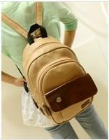 2014 Women PU Shoulders Bag Round Casual School Bag Preppy Style Fashion Vintage Student  All-match Female Handbag