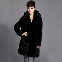 2013 Top Fur Women Natural Mink Fur Hood Coat For Woman Winter Warm Fur EMS Free Shipping