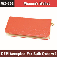 2013 Hot Selling Women Leather Wallet,Day Clutches Fashion Zipper Wallets, The Purse Bag With 8 word Pattern
