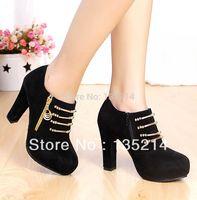 2014 Hot Sale women's autumn martin high-heeled platform single boots