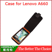 COOMAST 1PCS 100% original  Leather Case for Lenovo A660