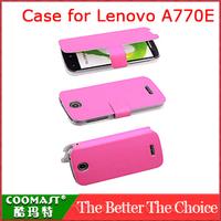 Free Shipping 1PCS 100% original  Leather Case for Lenovo A770E