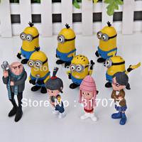 10Pcs/lot Hot Cartoon Despicable Me Characteristic Collection Figure Models