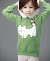 New Arrival 2013 High quality Cute Children Clothing with printing design girls sweater designer kids pullovers