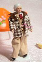 Dolls Toys For Girls Doll OLD MAN GRANDPA Porcelain Poseable 1/12 Dollhouse Miniature Furniture