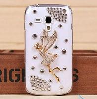 +Silver Gold Angel Rhinestone Diamond Design Hard Crystal Bling Cover For SAMSUNG GALAXY S3 MINI I8190