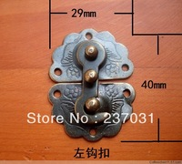 Gift box hardware antique buckles/iron latch/button box wooden box/small left hook 29 * 40 mm