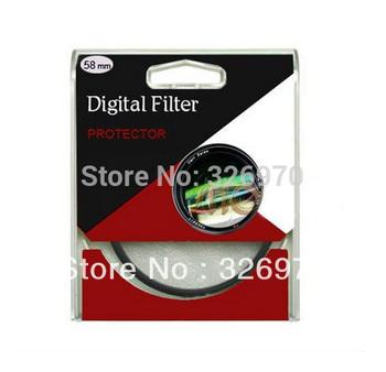 Wholesale 100pcs/lot 52mm UV Digital Filter Lens Protector for Canon/Nikon DSLR SLR Camera Free Shipping DHL