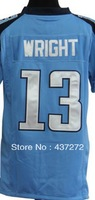 Free Shipping  American football jersey#5 David Wright  white/blue youth/kid's boy football Fashion Football Jersey