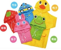 Free Shipping Kids Rain Coat children Raincoat Rainwear/Rainsuit,Kids Waterproof Animal Raincoat