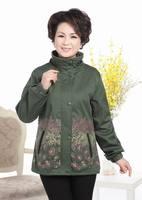 Mother Clothes Quinquagenarian Women's Comfortable Casual Print Short Jacket