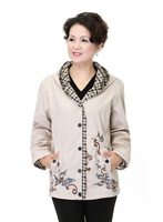 2013 Autumn Plus Size Female Top Fashion Mother Clothing Quinquagenarian Women's Jacket