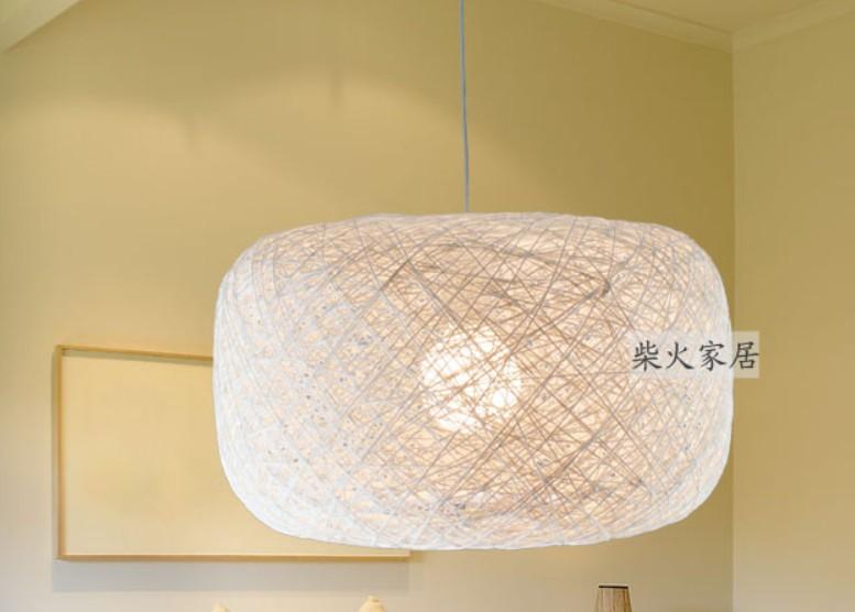 moderna breve moda personalit? lanterna zucca corda di canapa tessuto ...
