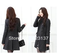 autumn and winter coat woolen overcoat women's double-breasted woolen slim thick outerwear coat