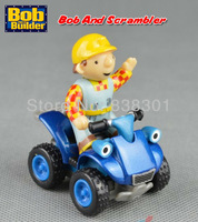 Free Shipping Bob The Builder Diecast Metal Vehicle Toys Bob Figure And Scrambler Loose In Stock