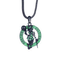 Back on Black Boston Celtics pendant Necklaces XX169