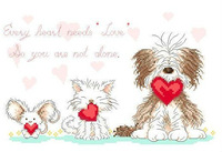 First Class Cross Stitch Kits Every Beast Needs Love Factory Direct Sell